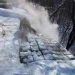Фото 21: Удаление льда на крыше методом нагревания