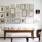 Фото 31: Множество мелких картин для украшения интерьера в винтажном стиле