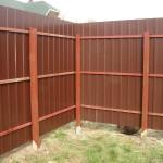 Фото 1: Забор из профлиста своими руками