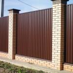 Фото 3: Забор из профлиста своими руками