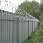 Фото 5: Забор из профлиста своими руками