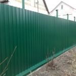 Фото 7: Забор из профлиста своими руками