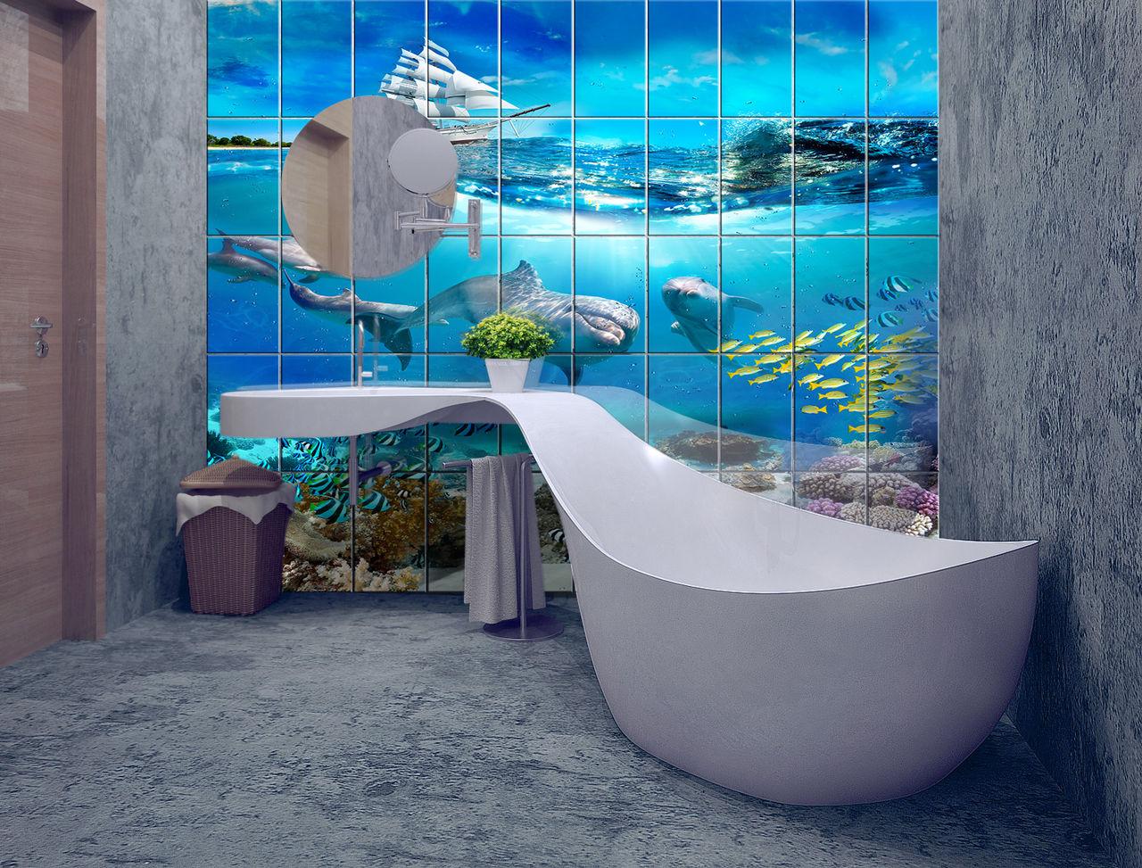 Стена ванной 3д