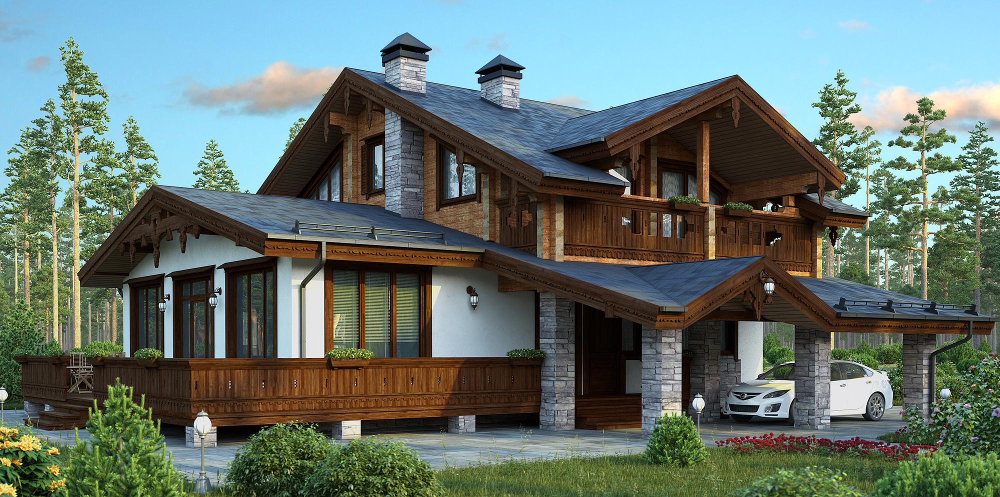 Дом из пеноблока двухэтажный
