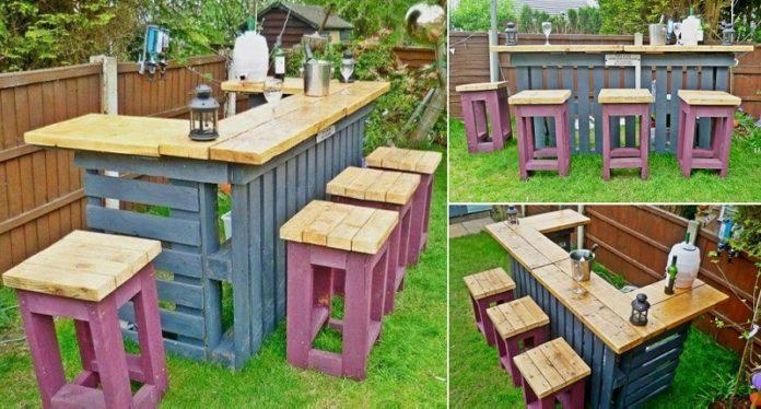 садовый бар из поддонов1