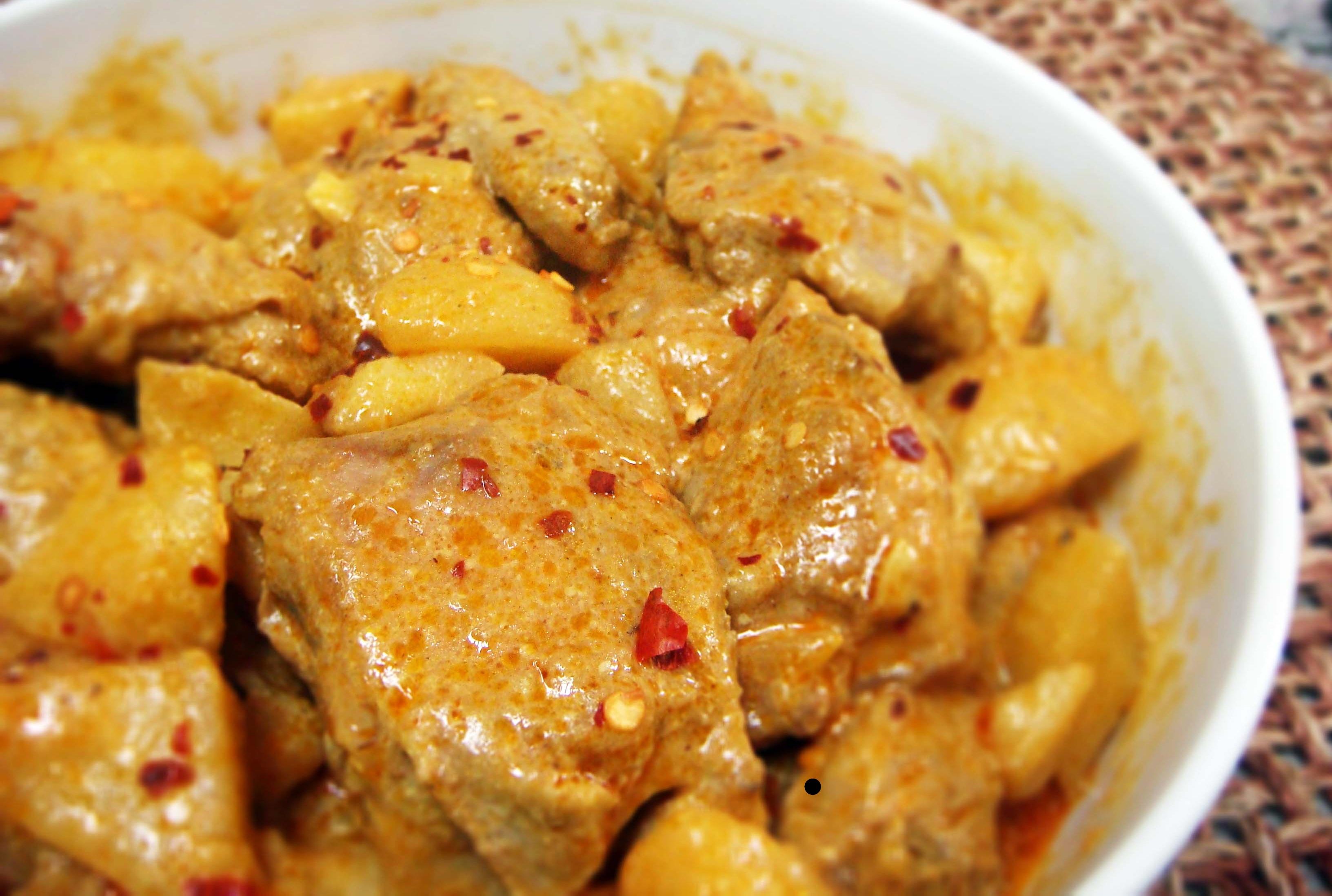 Курица с овощами и карри в духовке