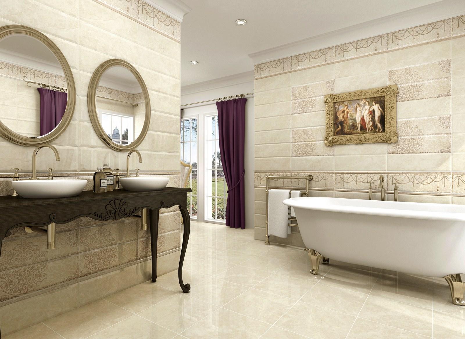 Испанская плитка в ванной