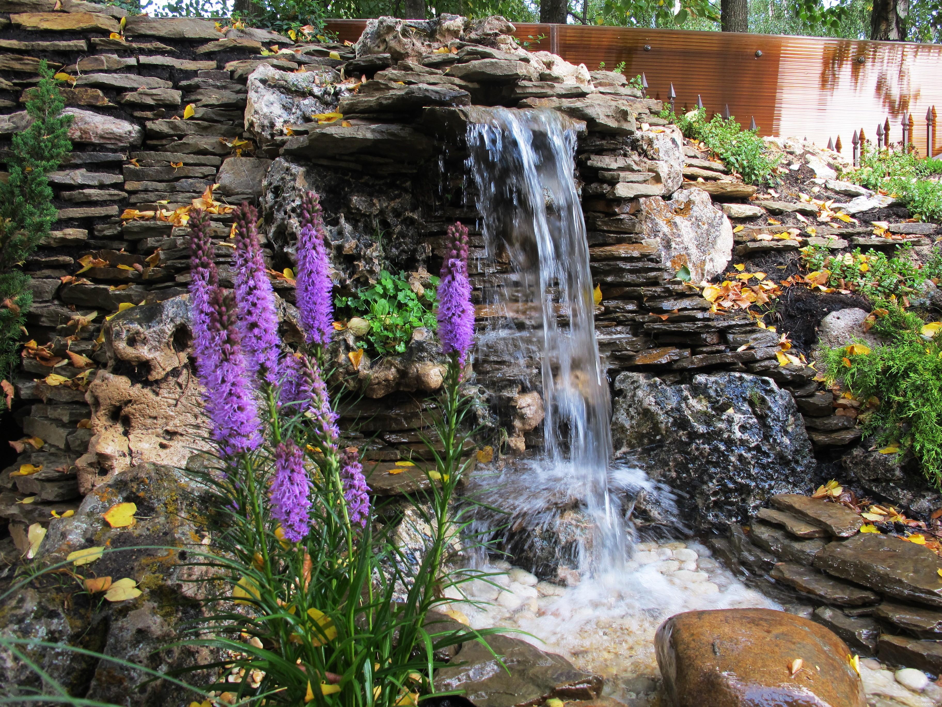 декоративный водопад картинки этом случае