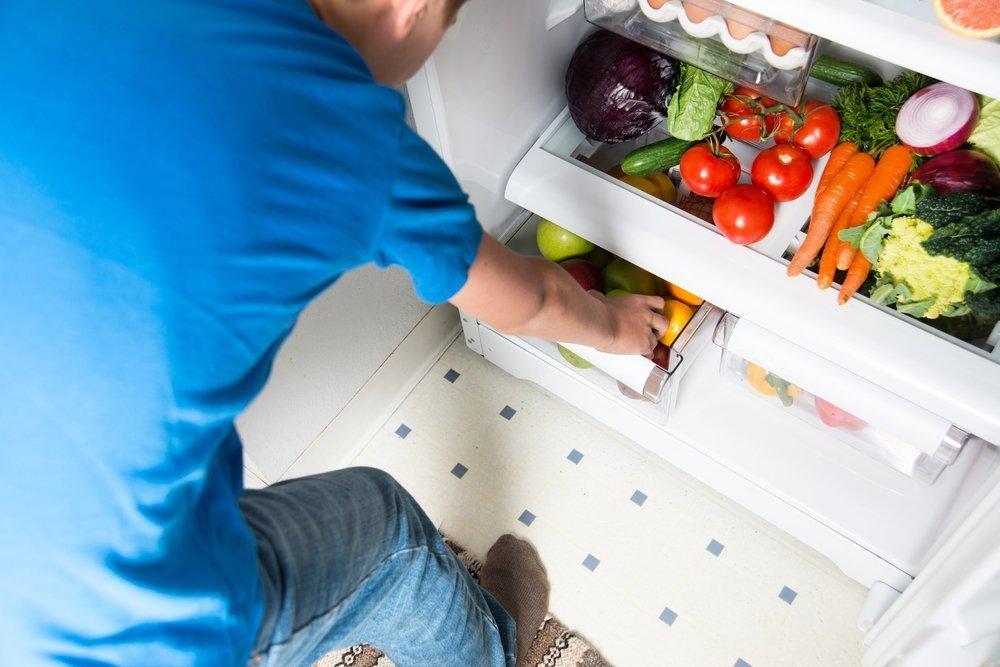 Холодильник lg внутри