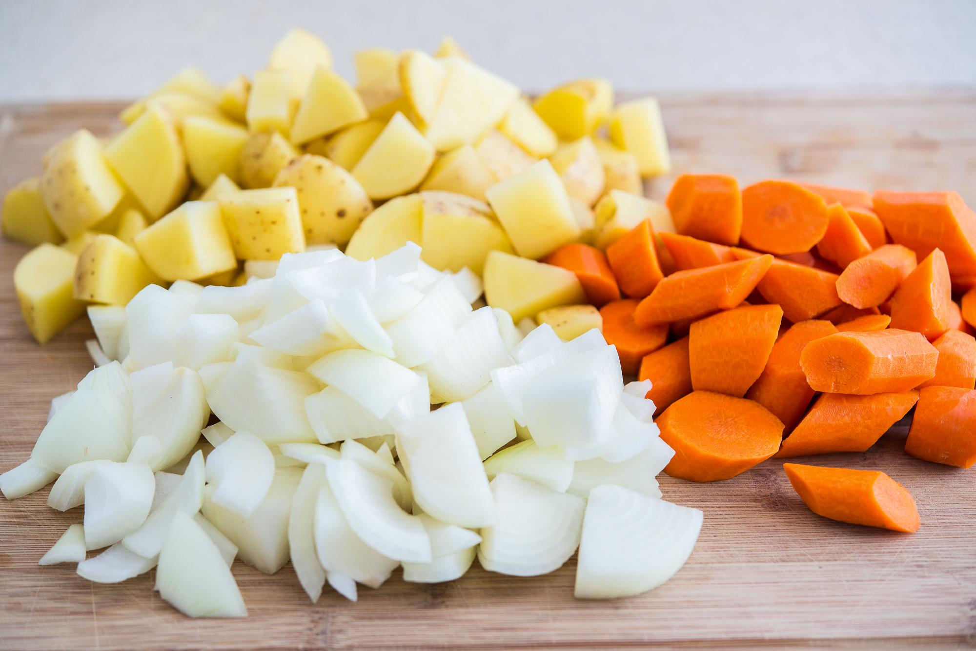 Нарезка для запеченных в духовке овощей
