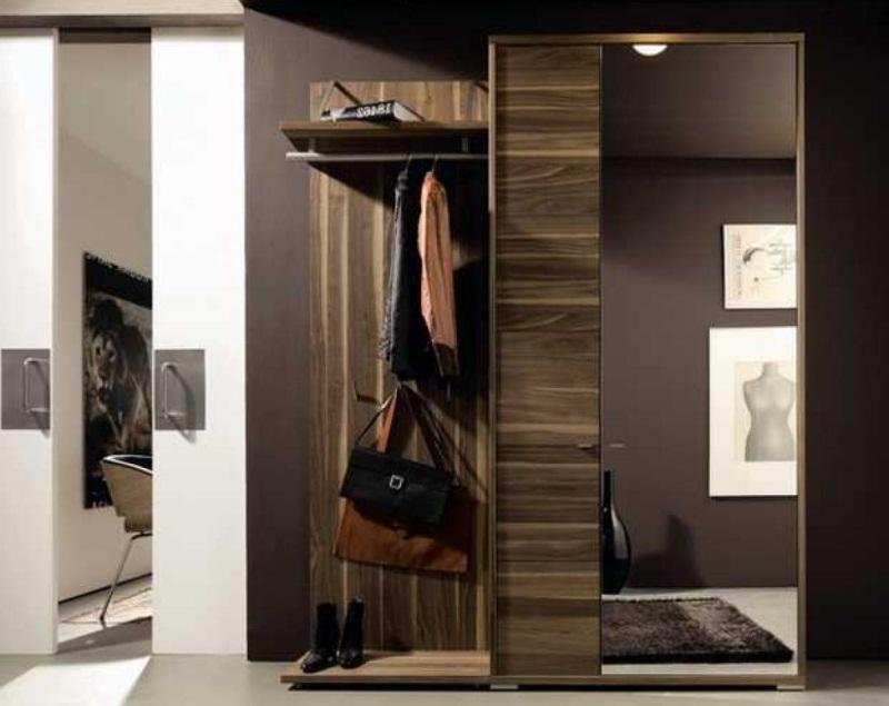 Мебель для прихожей в современном стиле темные тона