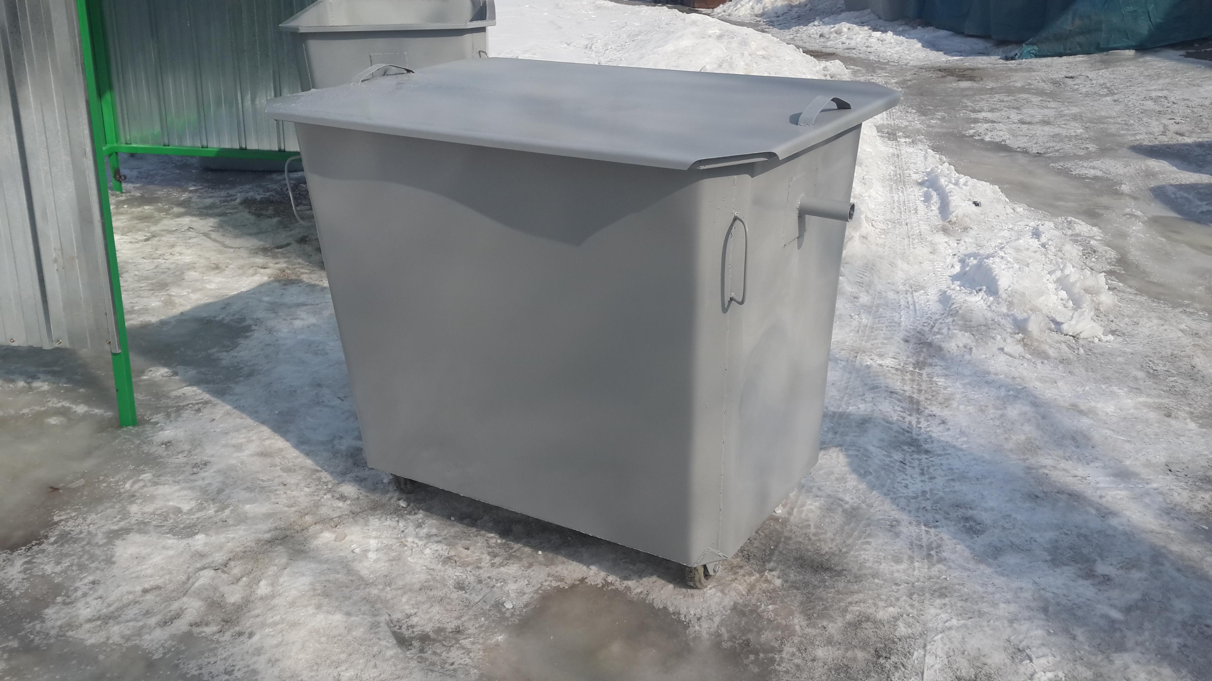 Серый контейнер