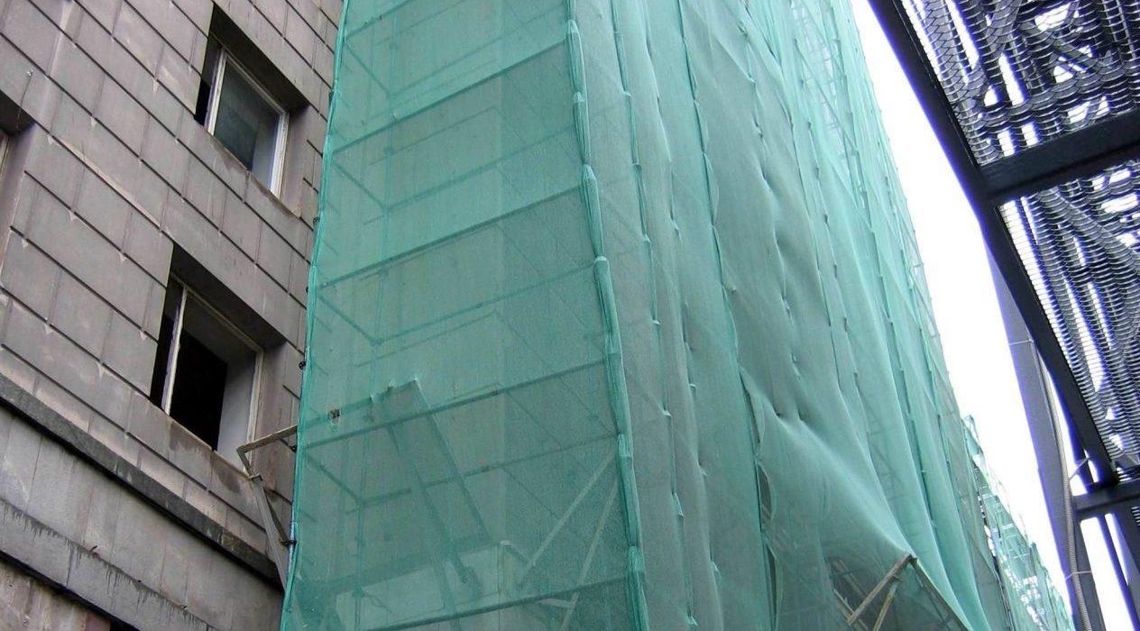 Фасадная сетка для зданий при строительстве