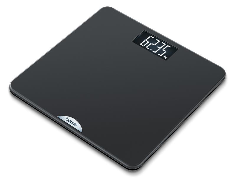 Электронные напольные весы черные