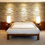 Фото 15: Имитация камня в дизайне интерьера спальни