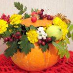 Фото 52: Осенний букет в тыкве