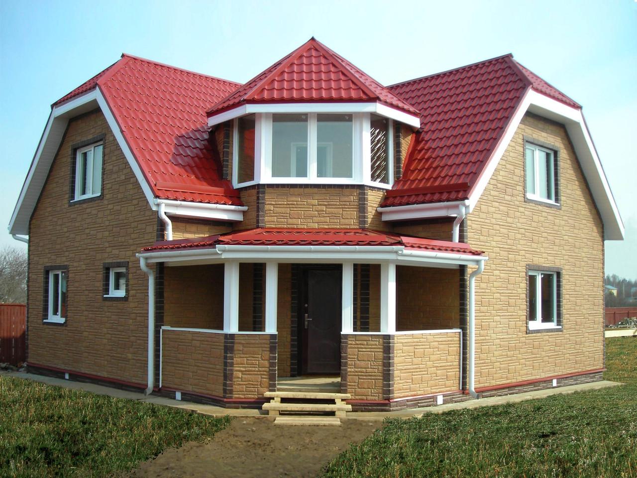 Дом из пеноблока с мансардой