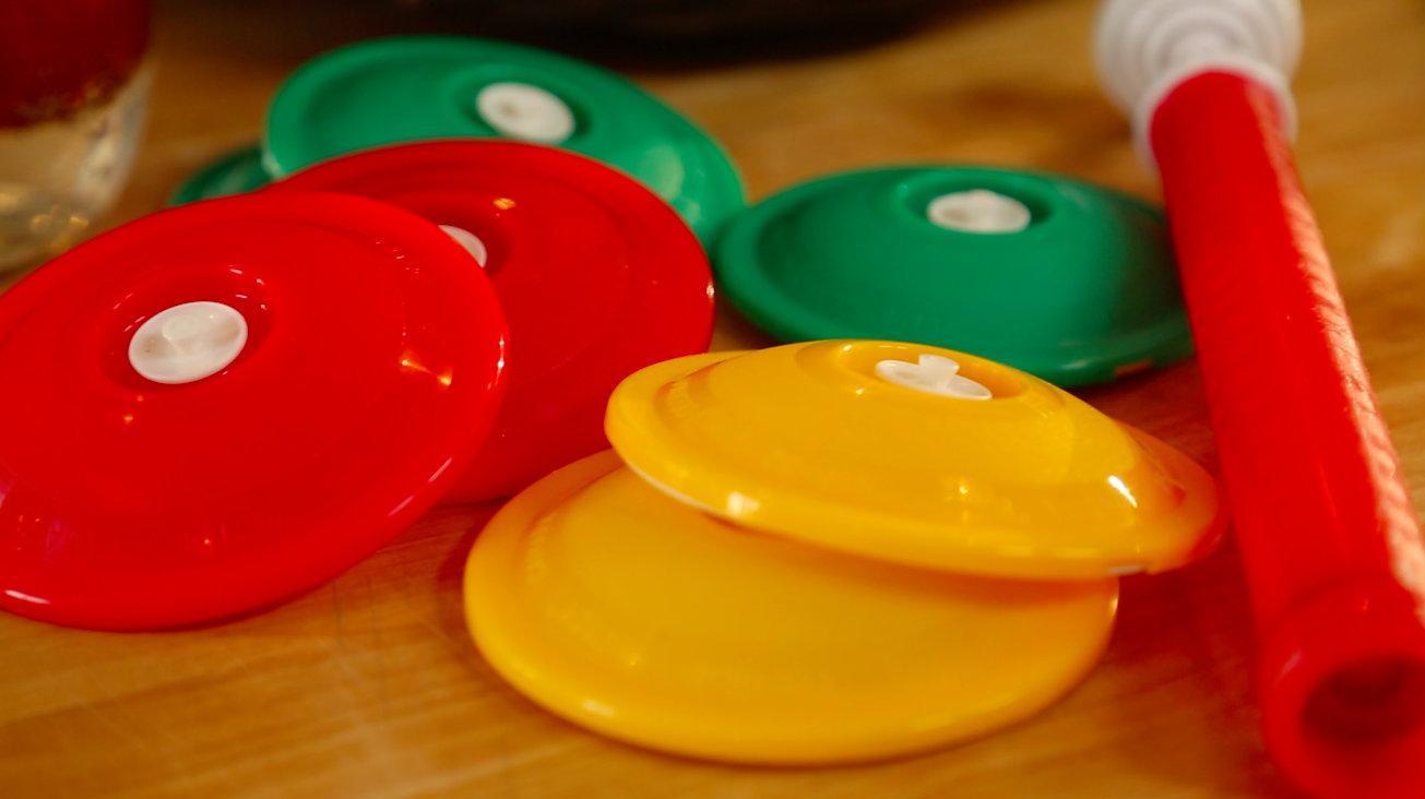 Вакуумные крышки разноцветные