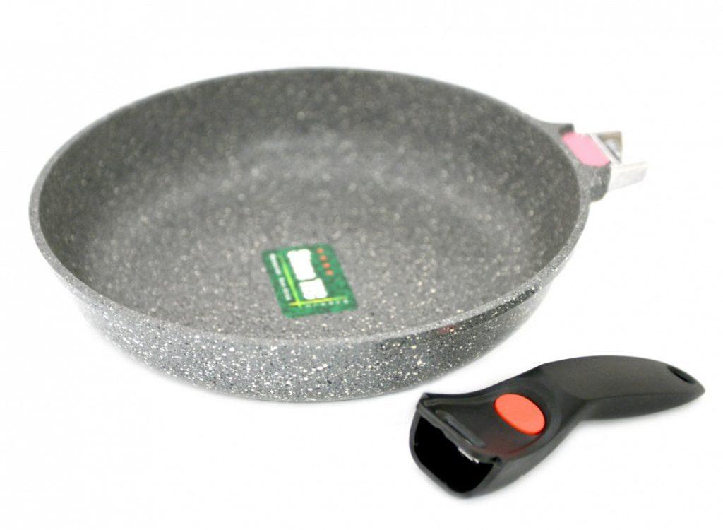 Каменная сковорода со съемной ручкой