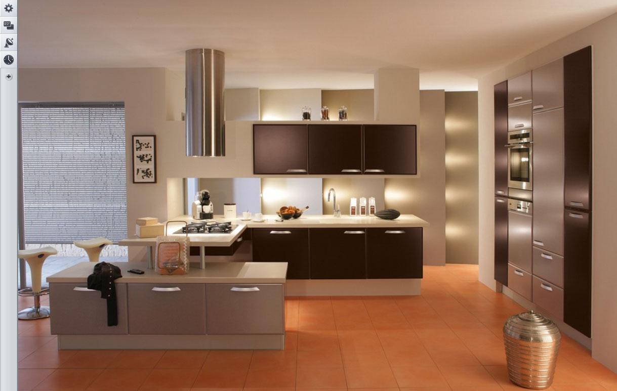 Планировка кухни стильное