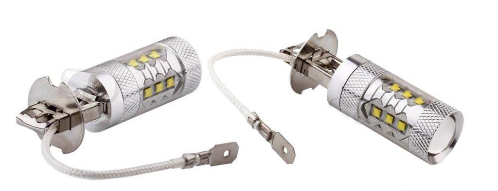 Светодиодные лампы для автомобиля пример