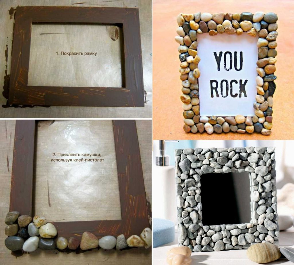 Декор рамки камнями