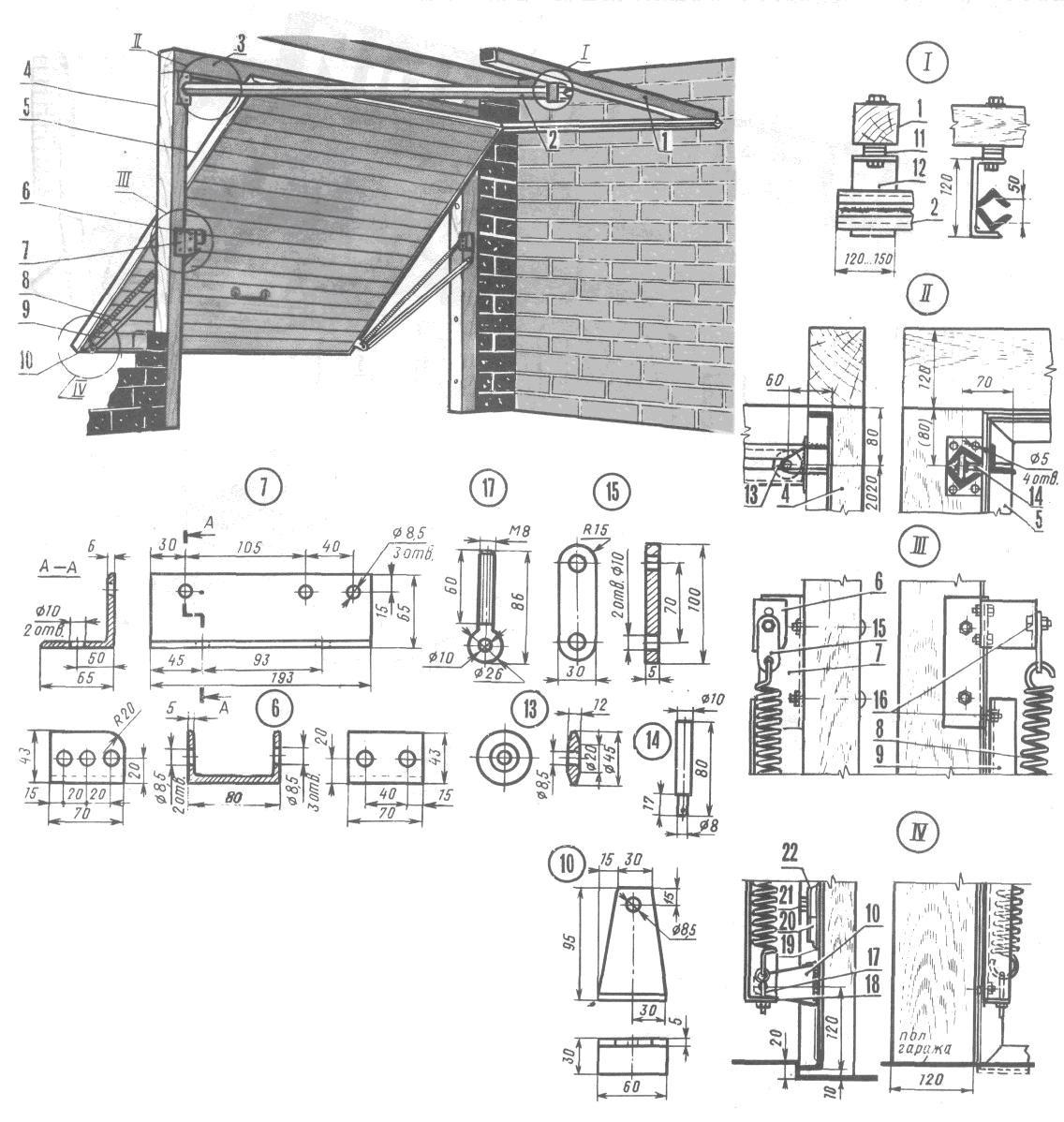 Подъемные ворота схема строения