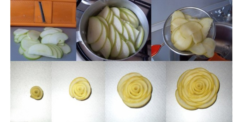 Изготовление розочек из яблок