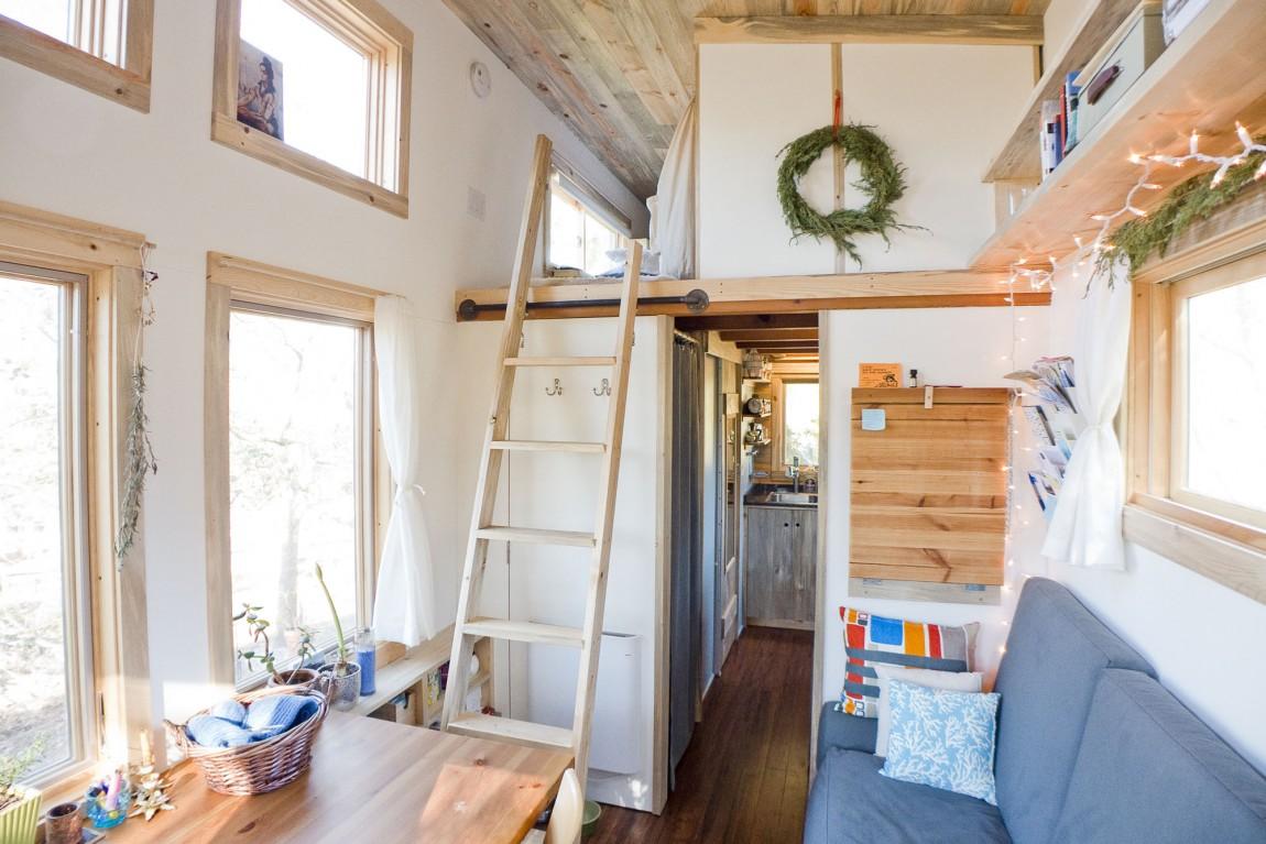 Обустройство комнаты дома на колесах