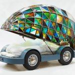 Фото 23: Кровать-автомобиль с витражным куполом