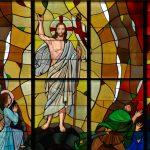 Фото 30: Витражная композиция в христианском стиле