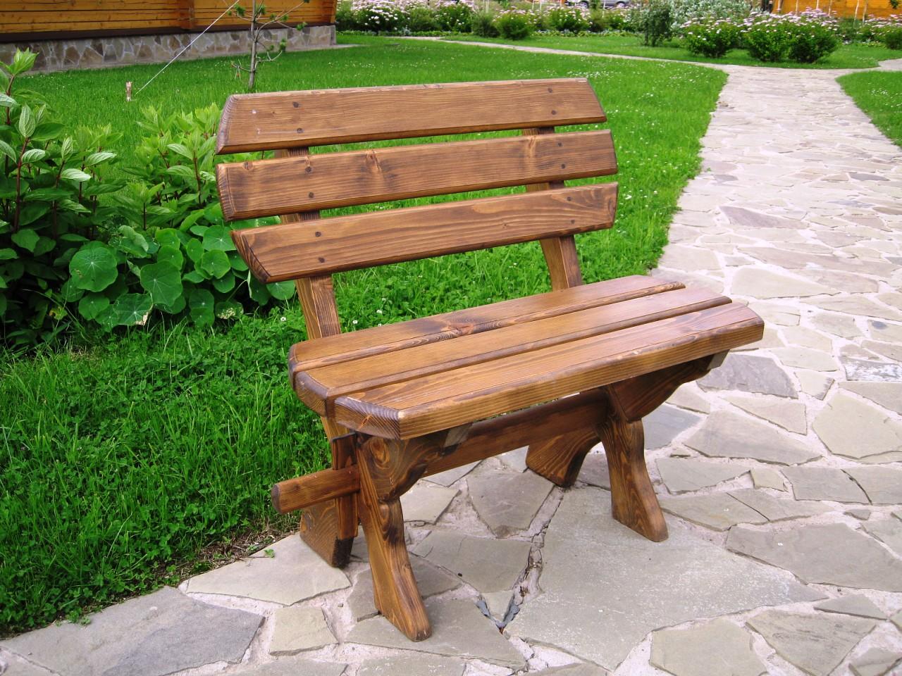 Садовая скамейка своими руками со спинкой