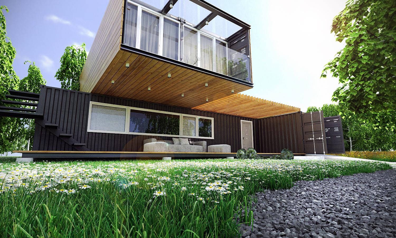 Дизайн дома из контейнеров