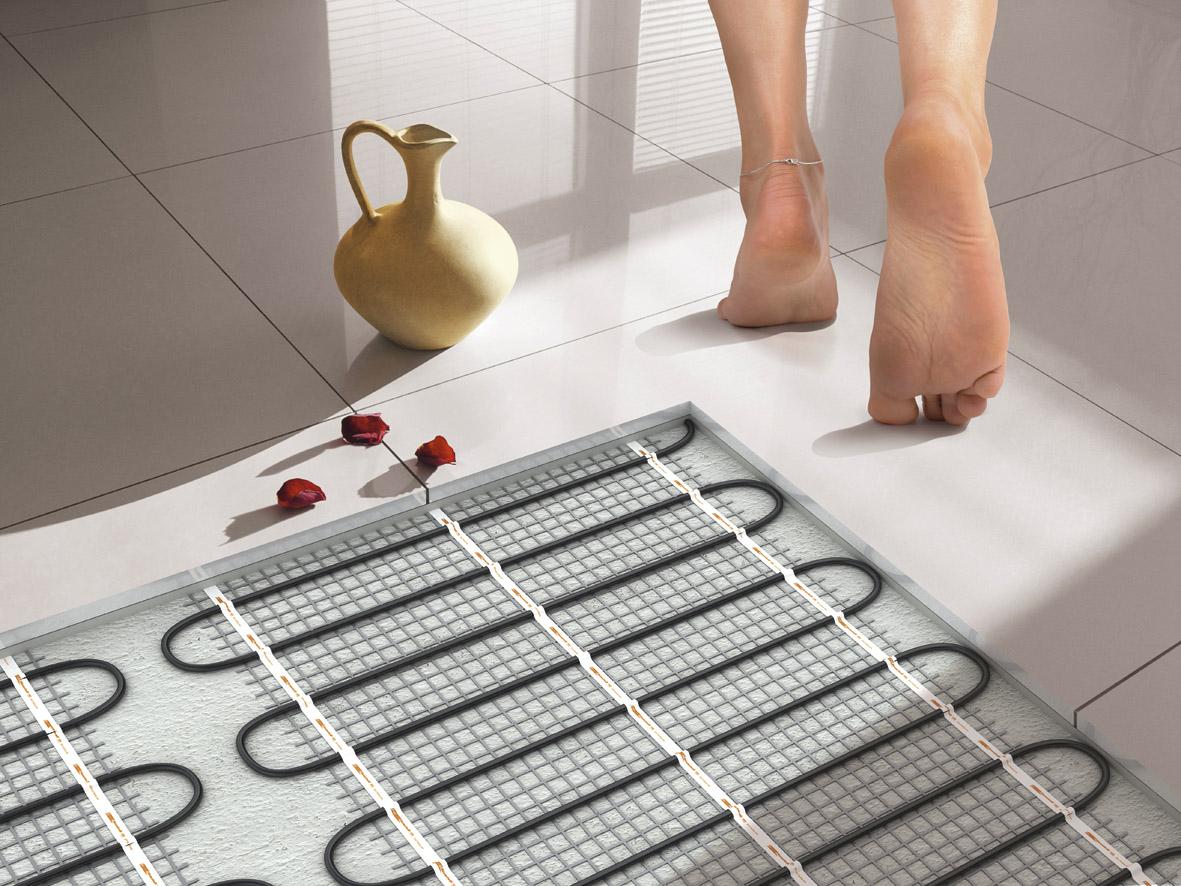 Теплый пол под ногами