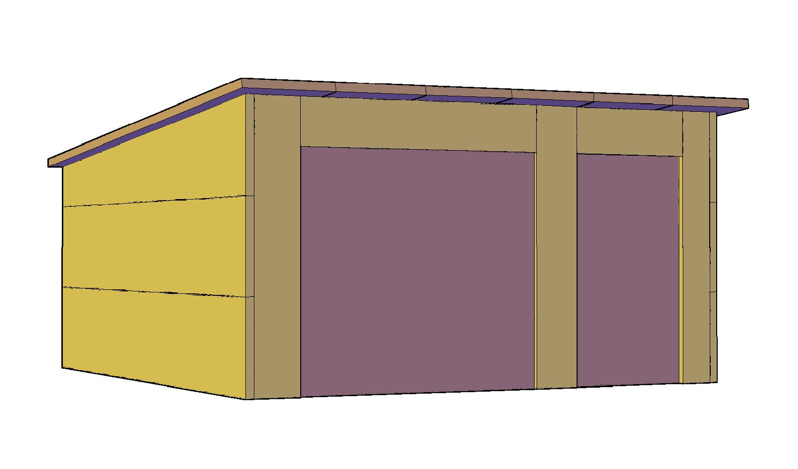 Модель гаража на фото