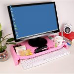 Фото 11: Органайзер розовый под монитор