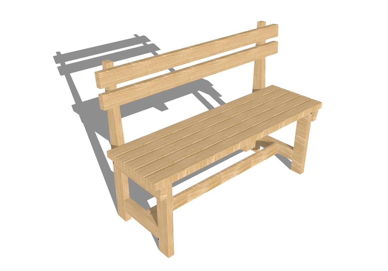 Садовая скамейка своими руками на белом фоне