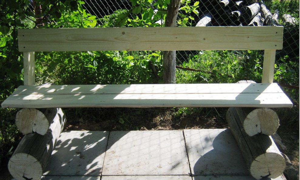Садовая скамейка своими руками обычная конструкция