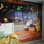 Фото 74: 3Д фотообои в детской в виде комнаты