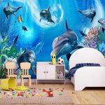 Фото 63: 3D фотообои в детской с аквариумом