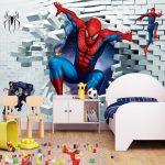 Фото 35: Обои с человеком- пауком в детской для мальчиков