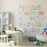 Фото 88: Фотобои с алфавитом в детской