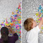 Фото 28: Обои - раскраски в детской