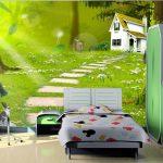 Фото 65: 3D фотообои в детской с пейзажем