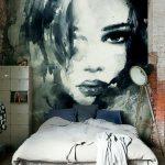 Фото 48: Фотообои с портретом в комнате девочки - подростка