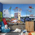 Фото 32: Обои с самолетиками в детской