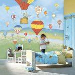 Фото 105: Фотобои в детской с воздушными шарами