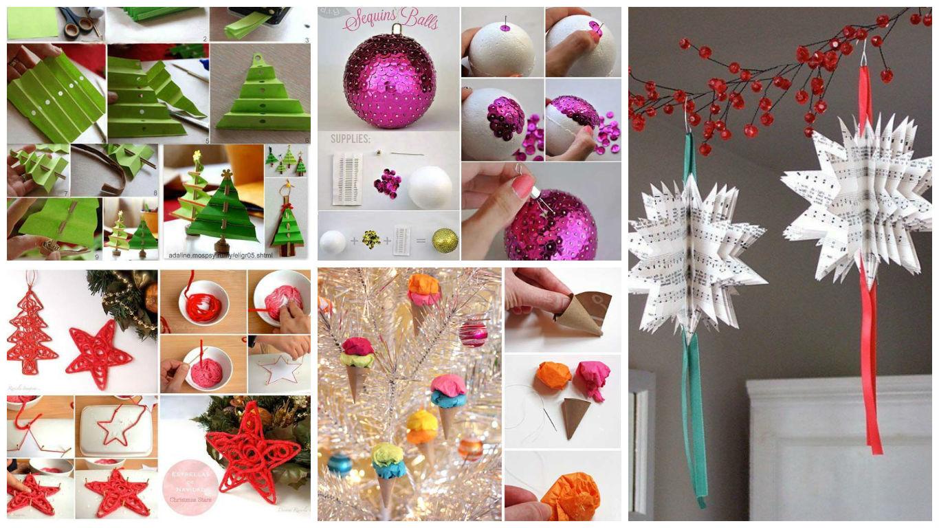 Новогодние украшения, сделанные для дома своими руками