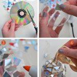Фото 52: Украшение прозрачного шарика кусочками диска