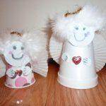 Фото 12: Ангелы из стаканчиков на елку своими
